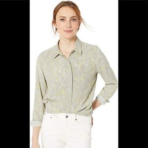Geo printer blouse